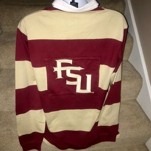 Rare Vtg Nike *Florida State* l/s rugby polo shirt